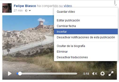 Cómo incrustar un post de Facebook en un blog
